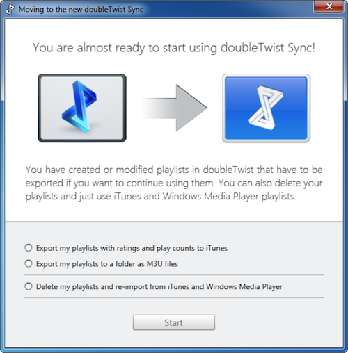 Help: Quick Start Guide to doubleTwist Sync [Win 7/8