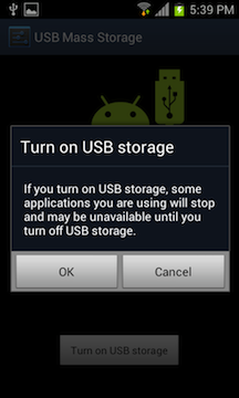 enable usb mass storage samsung galaxy s2