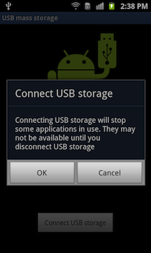 Help: USB Connect Mode